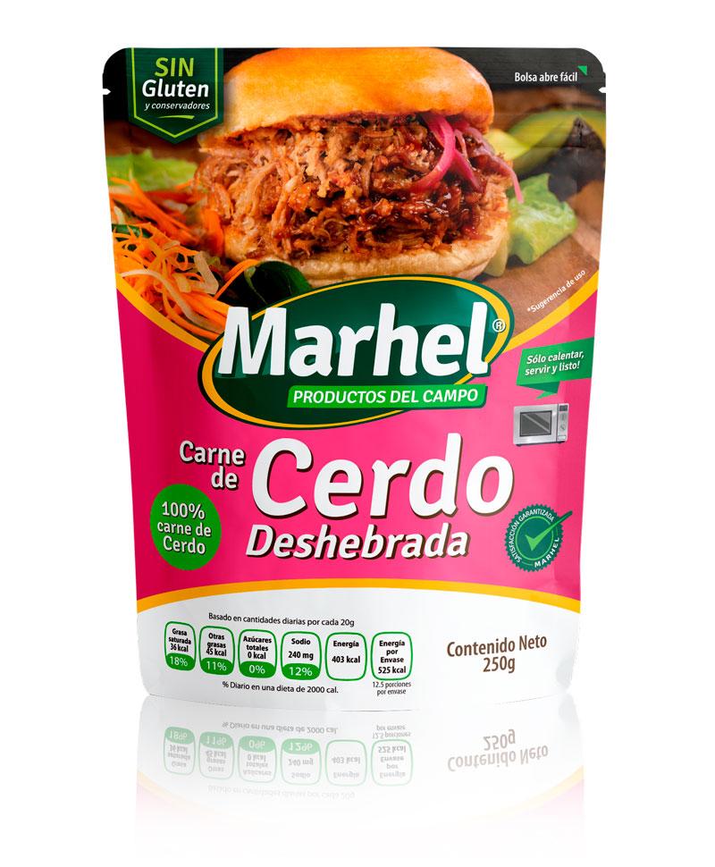 Carne de Cerdo deshebrada con Marhel