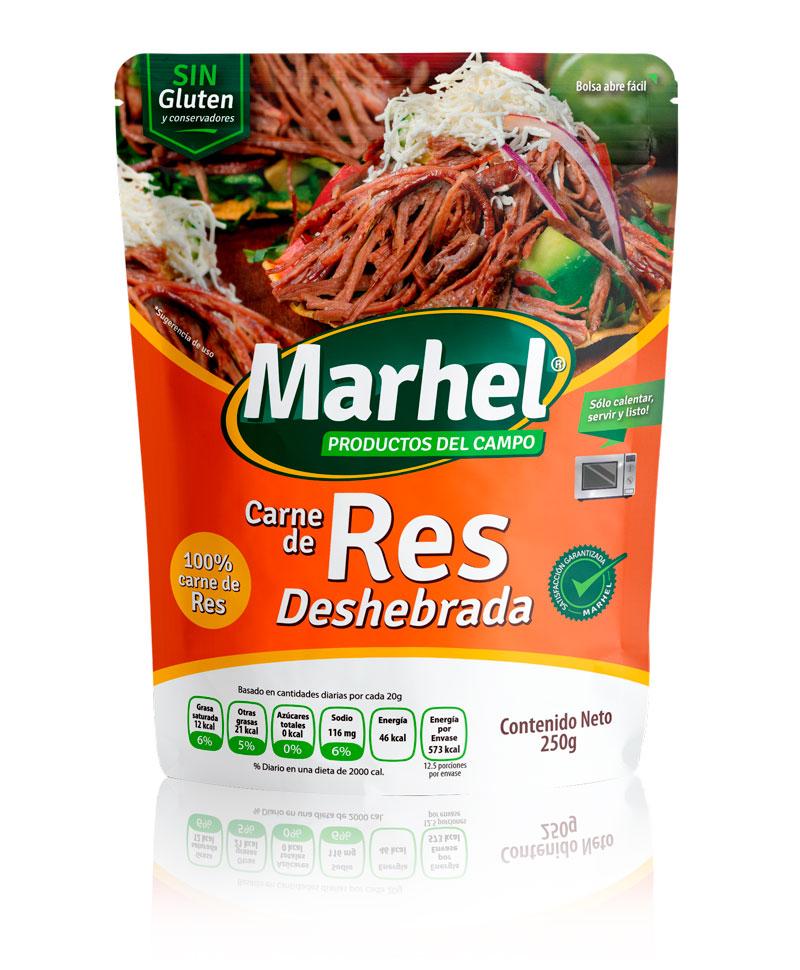 Carne de Res deshebrada con Marhel